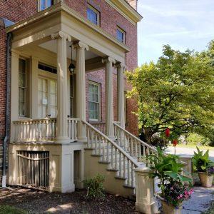 Eastern porch of Ten Broeck Mansion